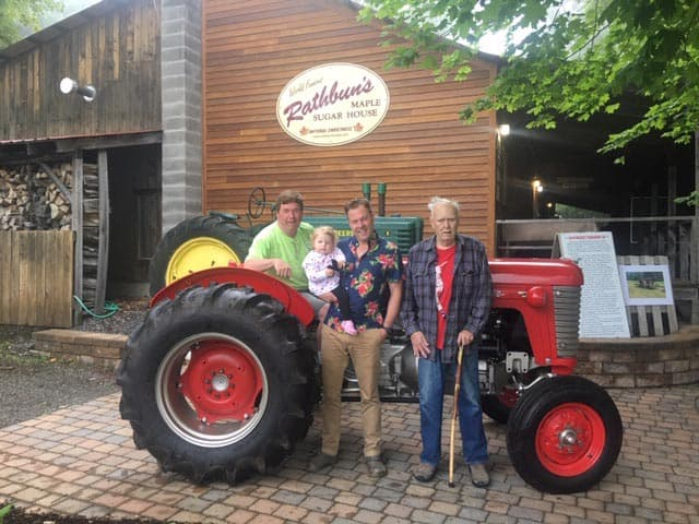 Rathbun's Maple Sugar House Family