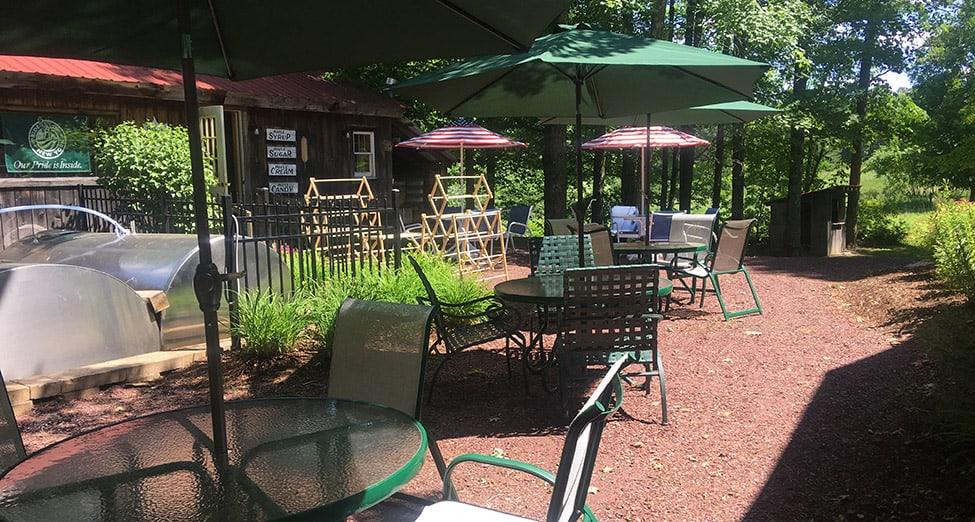 Rathbun's Maple Sugar House Restaurant Outdoor Dining