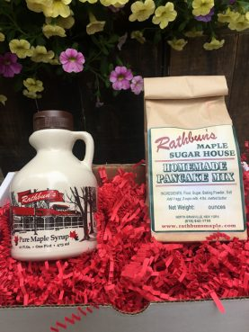 Rathbun's Maple Sugar House Syrup and Pancake Mix